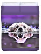 Labrador Swimming Duvet Cover