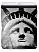 Lady Liberty In Black And White1 Duvet Cover