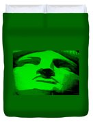 Lady Liberty In Green Duvet Cover