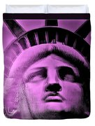 Lady Liberty In Pink Duvet Cover