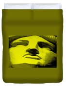Lady Liberty In Yellow Duvet Cover