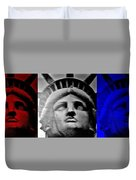Lady Liberty Red White And Blue Duvet Cover
