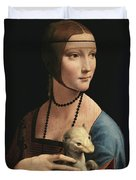 Lady With An Ermine, 1489 Duvet Cover
