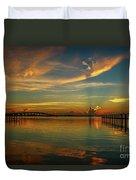 Lagoon Sunbeam Sunrise Duvet Cover