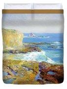 Laguna Rocks Low Tide 1916 Duvet Cover