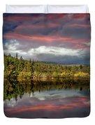 Lake Bodgynydd Sunset Duvet Cover