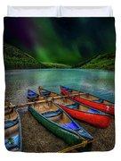 lake Geirionydd Canoes Duvet Cover