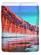 Lake Powell With Cliff Reflections Duvet Cover