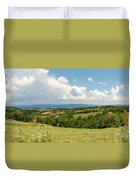 Landscape With Orchards Duvet Cover