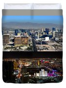 Las Vegas Night And Day Work A Duvet Cover