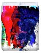 Las Vegas Skyline Brush Stroke Watercolor   Duvet Cover