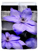 Lavender Clematis On Vine Duvet Cover