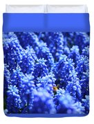 Lavender Field With Bee Duvet Cover