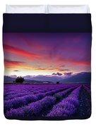 Lavender Season Duvet Cover