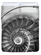 Lblack And White View Of Spiral Stairs Inside The Arch De Triump Duvet Cover