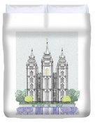 Lds Salt Lake Temple - Colorized Duvet Cover