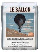 Le Ballon Aeronautical Journal, 1883 French Poster Duvet Cover