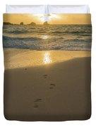 Leading To The Light Coastal Sunrise Duvet Cover