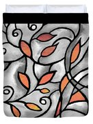 Leaves And Curves Art Nouveau Style Xii Duvet Cover