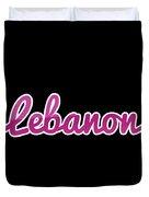 Lebanon #lebanon Duvet Cover