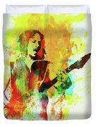 Legendary Kirk Hammett Watercolor Duvet Cover