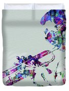 Legendary Miles Davis Watercolor Duvet Cover