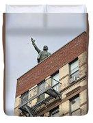 Lenin Statue In East Village N Y C Duvet Cover