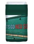 Let's Go Red Sox Duvet Cover