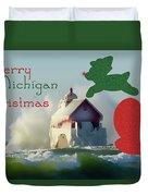 Lightouse Christmas Duvet Cover