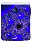 Liquid Blue Paint Duvet Cover