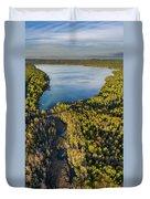 Litte Traverse Lake Vertical Panorama Duvet Cover