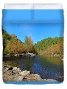 Little River From Little River Gorge Road At Townsend Entrance Duvet Cover