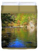 Little River In Autumn In Smoky Mountains National Park Duvet Cover