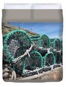 Lobster Pots Duvet Cover