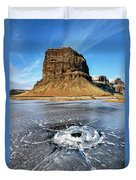 Lomagnupur Mountain Iceland Duvet Cover
