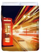 London Phone Box Duvet Cover by ISAW Company