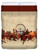 London Skyline Sepia Duvet Cover