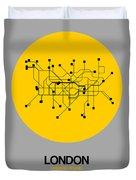 London Yellow Subway Map Duvet Cover