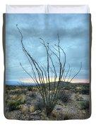 Lone Bush - Sunrise Duvet Cover