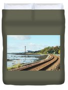 Longgannet Power Station And Railway Duvet Cover