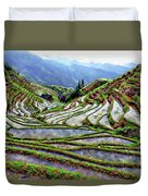 Lonji Rice Terraces Duvet Cover