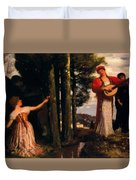 Look Any Laughs To The Plains Duvet Cover