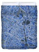 Los Angeles Map Retro 5 Duvet Cover