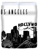 Los Angeles Skyline Panorama Duvet Cover