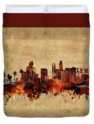 Los Angeles Skyline Vintage Duvet Cover