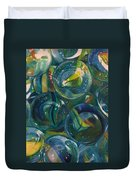 Losing  My Marbles Duvet Cover