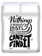 Lost Until Mom Cant Find It Funny Humor Gift Or Present For Wife Duvet Cover