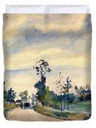 Louveciennes, Road Of Saint-germain - Digital Remastered Edition Duvet Cover