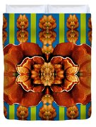 Love For The Fantasy Flowers With Happy Joy Duvet Cover