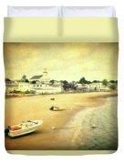 Low Tide Provincetown Cape Cod Massachusetts Shoreline Textured Duvet Cover